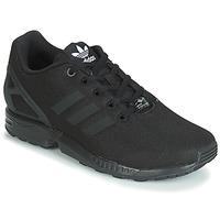 鞋子 男孩 球鞋基本款 Adidas Originals 阿迪達斯三葉草 ZX FLUX J 黑色
