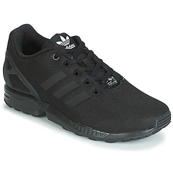 鞋子 儿童 球鞋基本款 Adidas Originals 阿迪达斯三叶草 ZX FLUX J 黑色
