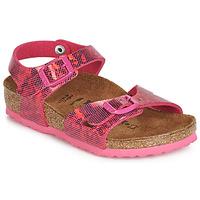 鞋子 女孩 涼鞋 Birkenstock 勃肯 RIO 玫瑰色