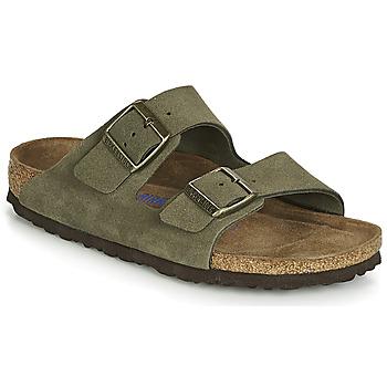 鞋子 女士 休闲凉拖/沙滩鞋 Birkenstock 勃肯 ARIZONA SFB 卡其色