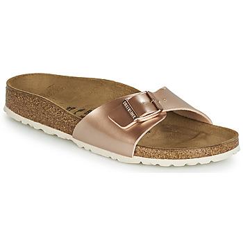 鞋子 女士 休闲凉拖/沙滩鞋 Birkenstock 勃肯 MADRID 玫瑰色 / 金色