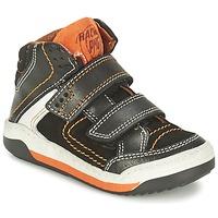 鞋子 男孩 高帮鞋 Primigi MOTT 黑色 / 橙色