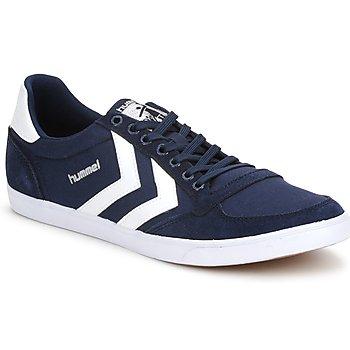 鞋子 球鞋基本款 Hummel TEN STAR LOW CANVAS 海蓝色