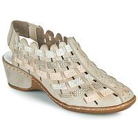鞋子 女士 短靴 Rieker 瑞克尔 ROBERTO 银灰色