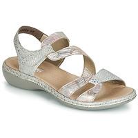 鞋子 女士 凉鞋 Rieker 瑞克尔 AMAZU 银灰色