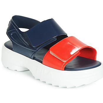 鞋子 女士 涼鞋 Melissa 梅麗莎 SANDAL + FILA 海藍色 / 紅色 / 白色