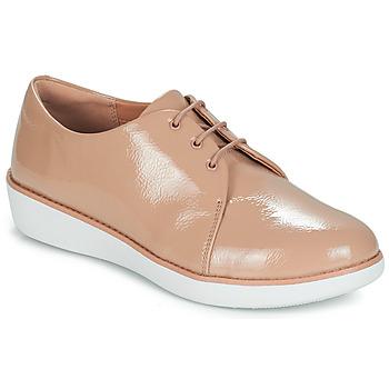 鞋子 女士 德比 FitFlop DERBY CRINKLE PATENT 灰褐色