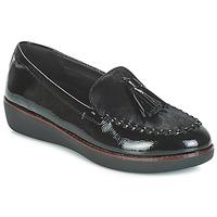鞋子 女士 皮便鞋 FitFlop PAIGE FAUX-PONY 黑色