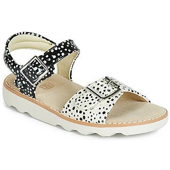 鞋子 女孩 凉鞋 Clarks 其乐 Crown Bloom K 黑色