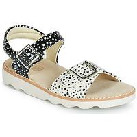 鞋子 女孩 涼鞋 Clarks 其樂 Crown Bloom T 黑色