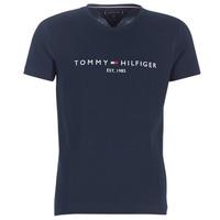 衣服 男士 短袖體恤 Tommy Hilfiger TOMMY FLAG HILFIGER TEE 海藍色