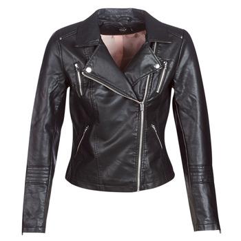 衣服 女士 皮夹克/ 人造皮革夹克 Only ONLGEMMA 黑色