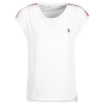 衣服 女士 短袖体恤 U.S Polo Assn. 美国马球协会 JEWELL TEE SS 白色