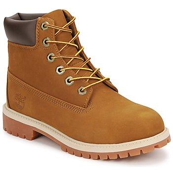 鞋子 儿童 短筒靴 Timberland 添柏岚 6 IN PREMIUM WP BOOT 棕色 / MIEL
