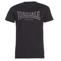 衣服 男士 短袖体恤 Lonsdale LOGO KAI 黑色