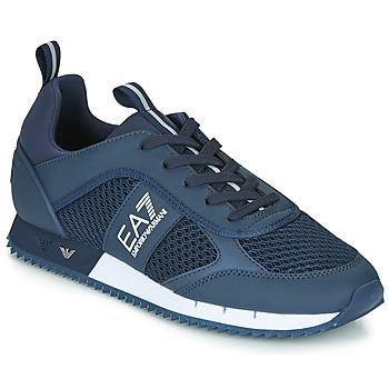 鞋子 男士 球鞋基本款 EA7 EMPORIO ARMANI BLACK&WHITE LACES U 蓝色