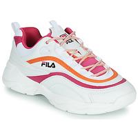 鞋子 女士 球鞋基本款 Fila RAY CB LOW WMN 白色 / 玫瑰色 / 橙色