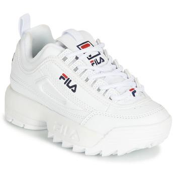 鞋子 兒童 球鞋基本款 Fila DISRUPTOR KIDS 白色