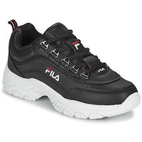 鞋子 女士 球鞋基本款 Fila STRADA LOW WMN 黑色