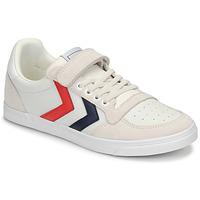 鞋子 儿童 球鞋基本款 Hummel SLIMMER STADIL LEATHER LOW JR 白色