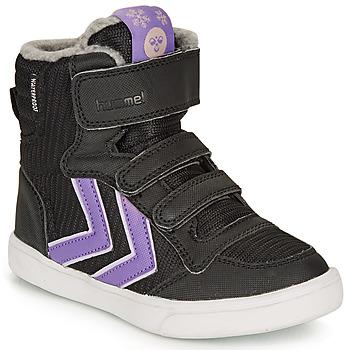 鞋子 女孩 高帮鞋 Hummel STADIL POLY BOOT MID JR 黑色
