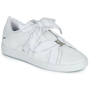 鞋子 女士 球鞋基本款 Puma 彪马 SMASH WN BUCKLE 白色
