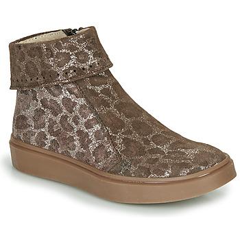 鞋子 女孩 短筒靴 Catimini CAMOMILLE 棕色