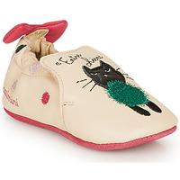 鞋子 女孩 拖鞋 Catimini CALICETTE 米色 / 玫瑰色