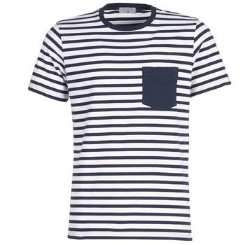 衣服 男士 短袖体恤 Casual Attitude KARALE 海蓝色 / 白色