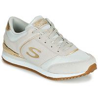 鞋子 女士 球鞋基本款 Skechers 斯凱奇 SUNLITE 灰色 / 金色