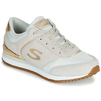 鞋子 女士 球鞋基本款 Skechers 斯凯奇 SUNLITE 灰色 / 金色
