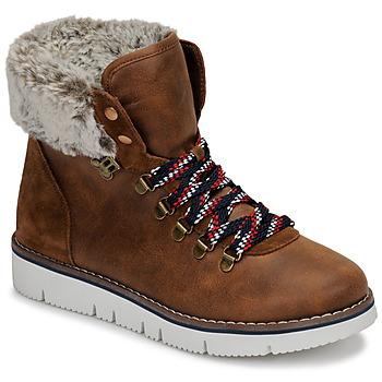 鞋子 女士 短筒靴 Skechers 斯凯奇 BOBS ROCKY 棕色