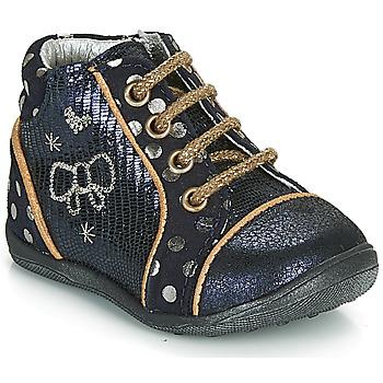 鞋子 女孩 短筒靴 Catimini CARASSIN 海蓝色 / 金色