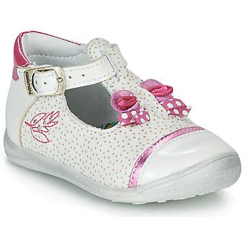 鞋子 女孩 凉鞋 Catimini CALATHEA 白色 / 玫瑰色