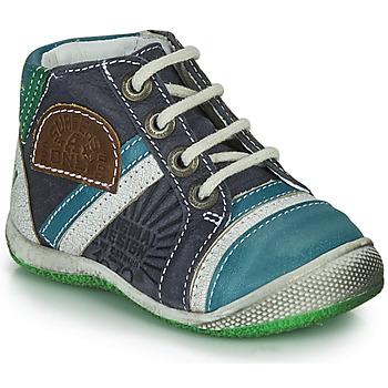 鞋子 男孩 短筒靴 Catimini CIGOGNE 蓝色 / 绿色