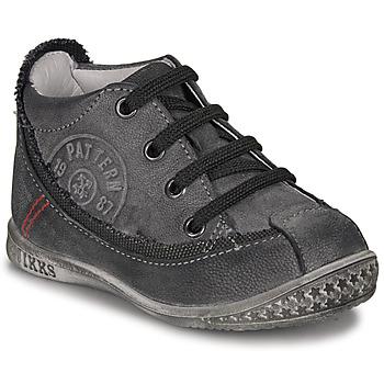 鞋子 男孩 短筒靴 Ikks STEVEN -煤灰色
