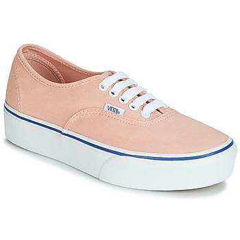 鞋子 女士 球鞋基本款 Vans 范斯 AUTHENTIC PLATFORM 2.0 玫瑰色