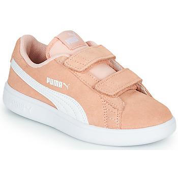 鞋子 女孩 球鞋基本款 Puma 彪马 SMASH PSV PEACH 珊瑚色