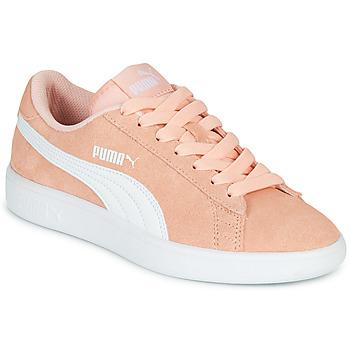鞋子 女孩 球鞋基本款 Puma 彪马 SMASH V2JR PEAC 珊瑚色