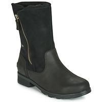 鞋子 女士 短筒靴 Sorel EMELIE FOLDOVER 黑色
