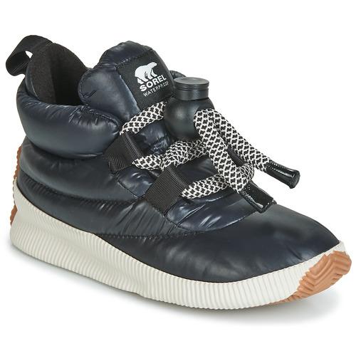 鞋子 女士 短筒靴 Sorel OUT N ABOUT PUFFY LACE 黑色