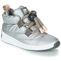鞋子 女士 短筒靴 Sorel OUT N ABOUT PUFFY LACE 银色