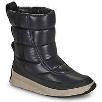 鞋子 女士 雪地靴 Sorel OUT N ABOUT PUFFY MID 黑色