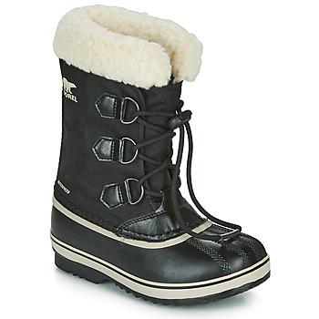 鞋子 儿童 雪地靴 Sorel YOOT PAC NYLON 黑色