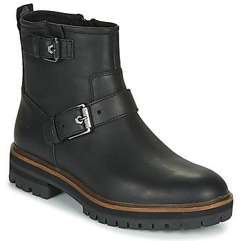 鞋子 女士 短筒靴 Timberland 添柏岚 LONDON SQUARE BIKER 黑色
