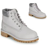 鞋子 儿童 短筒靴 Timberland 添柏岚 6 IN PREMIUM WP BOOT 灰色