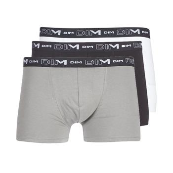 内衣  男士 拳击 DIM COTON STRETCH X3 黑色 / 灰色 / 白色