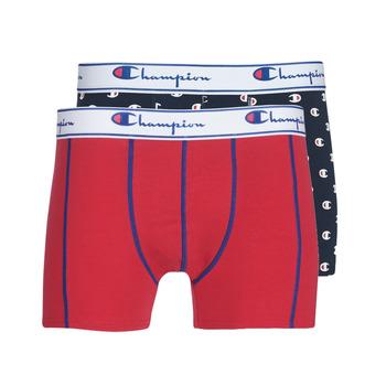 内衣  男士 拳击 Champion MIX UNI + IMPRIME X2 黑色 / 红色