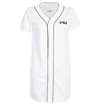 衣服 女士 短裙 Fila WOMEN ROBIN button baseball dr 白色