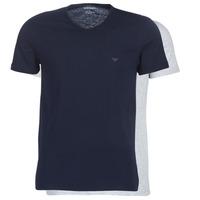 衣服 男士 短袖体恤 Emporio Armani CC722-111648-15935 海蓝色 / 灰色